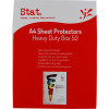Stat Sheet Protectors A4 Heavy Duty 70 Micron Clear Pack of 50
