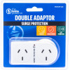 THE BRUTE POWER CO. DOUBLE ADAPTOR - Flat Left & Surge Protection