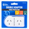 THE BRUTE POWER CO. DOUBLE ADAPTOR - Flat Right & Surge Protection