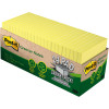POST-IT 654R-24CP-CY NOTES Cab Pack 100% Rcycld 76x76 Yel Pack of 24