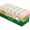 Post-It 654R-24CP-AP Notes 76x76mm Greener Recycled Cabinet Pack Pastel Pack of 24