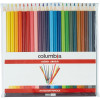 COLUMBIA COLOURSKETCH PENCILS Full Length Assorted Wallet of 24