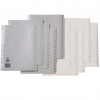 MARBIG NUMERICAL INDICES A4 PP 1-20 Grey Includes 20 Tabs