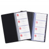 MARBIG BUSINESS CARD BOOK Indexed Black