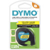 DYMO LETRATAG LABELLING TAPE 12mmx4m - Hyper Yellow
