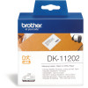 BROTHER LABEL PRINTER LABELS Ship/Name Badge 62X100mm White Box of 300