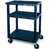 TUFFY UTILITY TROLLEY 3 Shelf H86cm Black