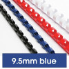 REXEL BINDING COMB 10mm 21Loop 65Sht Cap Blue Pack of 100