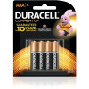 DURACELL COPPERTOP BATTERY AAA Card of 4 Pack of 4