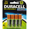DURACELL RECHARGEABLE BATTERY AA Pack 4 Precharged Pack of 4