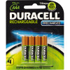 DURACELL RECHARGEABLE BATTERY AAA Pack 4 Precharged Pack of 4
