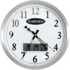 CARVEN LCD DATE CLOCK 350mm Chrome