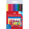 FABER-CASTELL TRI GRIP MARKERS Triangular Assorted 10s Pack of 10