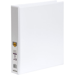 Marbig Clearview Insert Binder A4 3D Ring 38mm White