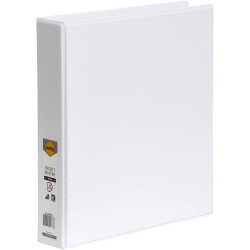 Marbig Clearview Insert Binder A4 4D Ring 38mm White