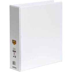 Marbig Clearview Insert Binder A4 3D Ring 50mm White