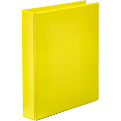Marbig Clearview Insert Binder A4 2D Ring 25mm Yellow