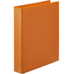 Marbig Clearview Insert Binder A4 2D Ring 25mm Orange