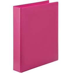 Marbig Clearview Insert Binder A4 2D Ring 25mm Pink