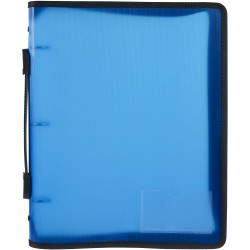 Marbig Zipper Binder A4 3O Ring 25mm With Handle Blue