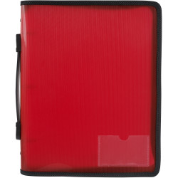 Marbig Zipper Binder A4 3O Ring 25mm With Handle Red