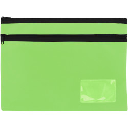 Celco Pencil Case 2 Zips Large 350x260mm Lime Green