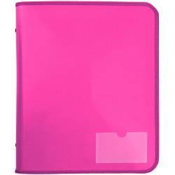 Marbig Zipper Binder A4 Tech Case 25mm 2D Pink