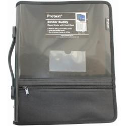 Protext Zipper Insert Binder A4 2D 25mm Smoke