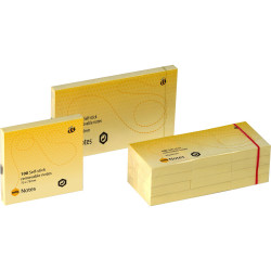 MARBIG NOTES Repositional 75x125mm Yellow