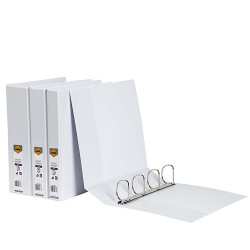 MARBIG INSERT BINDERS A4 2D Ring 25mm White
