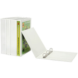 MARBIG INSERT BINDERS A4 3D Ring 25mm White