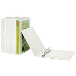 MARBIG INSERT BINDERS A4 2D Ring 50mm White