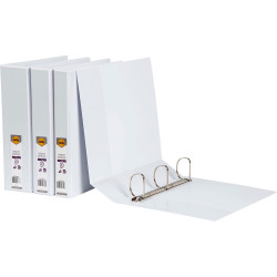 MARBIG INSERT BINDERS A4 3D Ring 50mm White