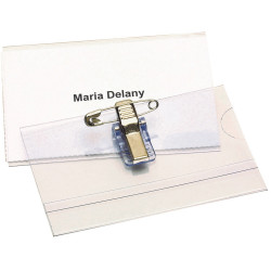 REXEL CONVENTION CARD HOLDERS With Pin & Clip