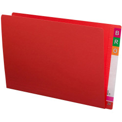 Avery Lateral Shelf Files Foolscap Extra Heavy Weight Box of 100 Red