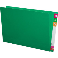 Avery Lateral Shelf Files Foolscap Extra Heavy Weight Box of 100 Green