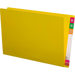 Avery Lateral Shelf Files Foolscap Extra Heavy Weight Box of 100 Yellow