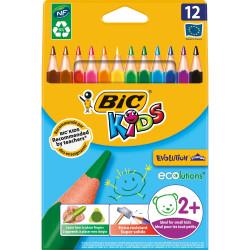 BIC KIDS COLOUR PENCIL Triangular Pack of 12