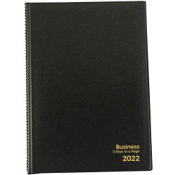 BUSINESS DIARY A4 2 Days to a Page 1 Hr 1Hr appoint 7am - 7pm