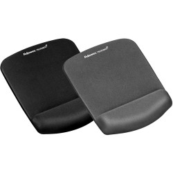 FELLOWES MOUSE PAD WRIST REST Plush Touch Features Microban