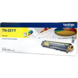 BROTHER TN-251 TONER CART Yellow Up to 1.4k Pages