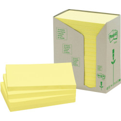 POST-IT 655-RTY NOTES TOWERS Recycled Yellow 73X123mm Pack of 16