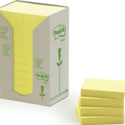 POST-IT 653-RTY NOTES TOWERS Recycled Yellow 35X48mm Pack of 24