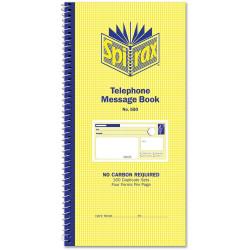 SPIRAX 550 TELEPHONE MSG BOOK NCR 160 Duplicate Sets S/O