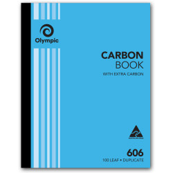 OLYMPIC RULED CARBON BOOKS 606 Dup 100Leaf 250x200mm