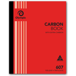 OLYMPIC RULED CARBON BOOKS 607 Trip 100Leaf 250x200mm