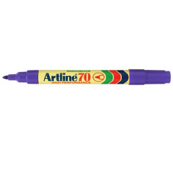 ARTLINE 70 PERMANENT MARKERS Med Bullet Purple Pack Of 12 Box of 12