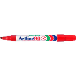 ARTLINE 90 PERMANENT MARKERS Med Chisel Red