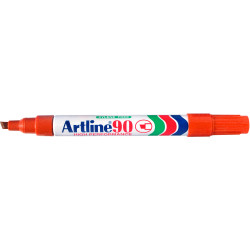 ARTLINE 90 PERMANENT MARKERS Med Chisel Orange Pack Of 12 Box of 12
