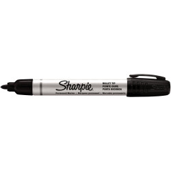 SHARPIE ALUMINIUM MARKER Permanent Bullet Point Black